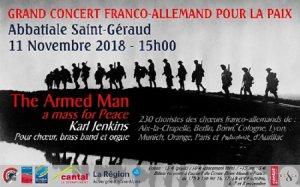 Grand Concert des Choeurs Franco-Allemands dans le cadre du Centenaire de l'Armistice de 1918