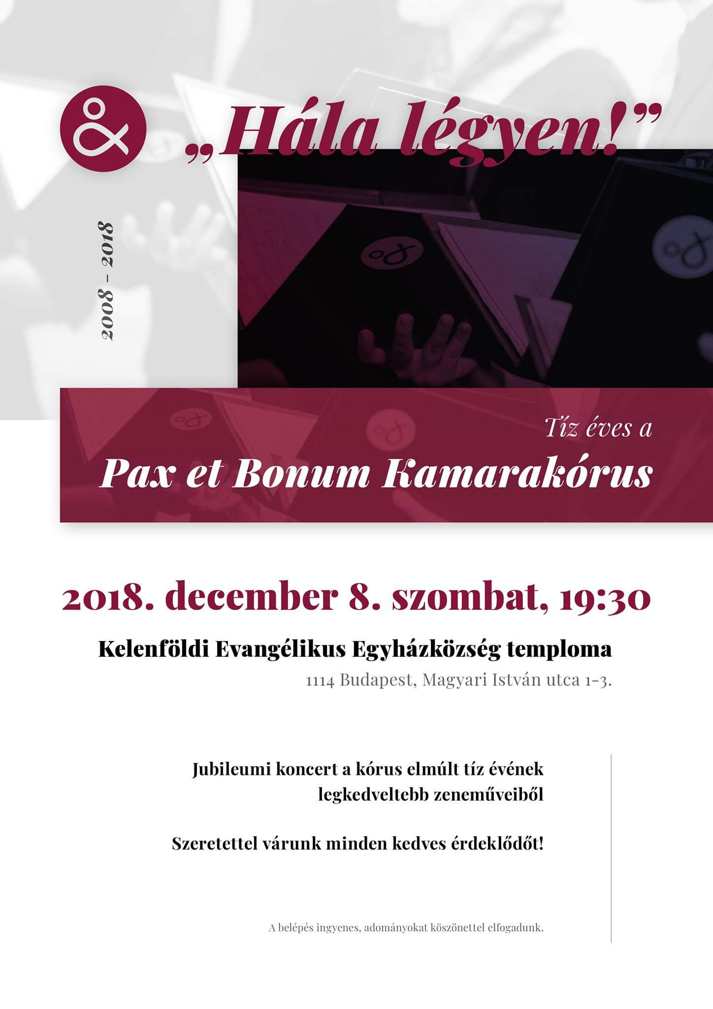 10th Anniversary of the Pax et Bonum Choir
