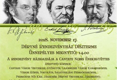 "V. Regionális Kórustalálkozó, ""In memoriam Brahms, Schubert, Erkel"" (V. Regional Choral Summit Concert)"