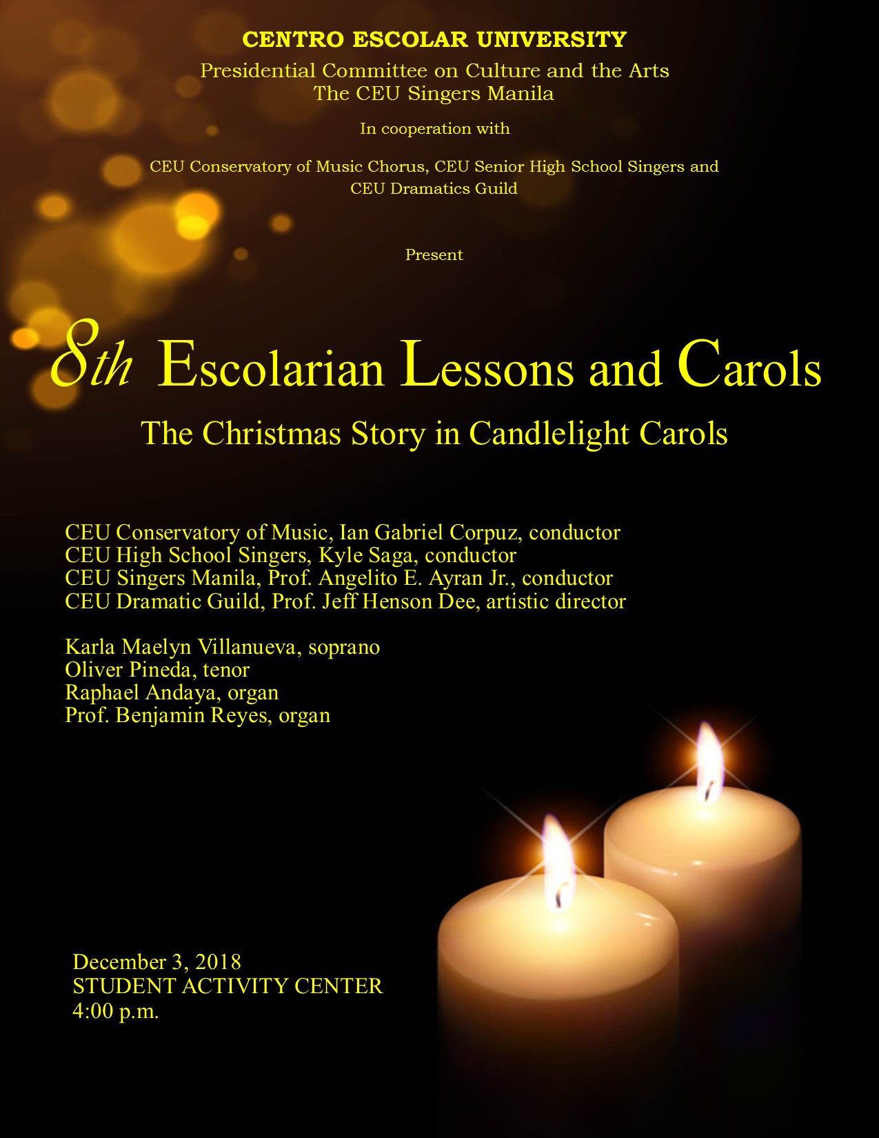 8th Escolarian Lessons and Carols