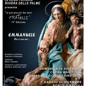 """Concerto Natalizio """"AL PIU' PICCOLO DEI MIEI FRATELLI """" 19^ edizione 1"""