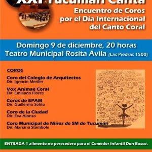 XXI TUCUMÁN CANTA: Encuentro de Coros por el Día Internacional del Canto Coral