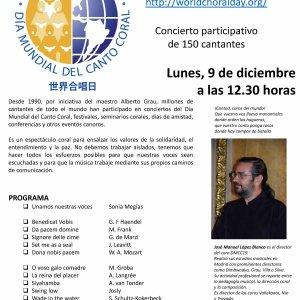 Celebración del Día Mundial del Canto Coral 2019 en Madrid