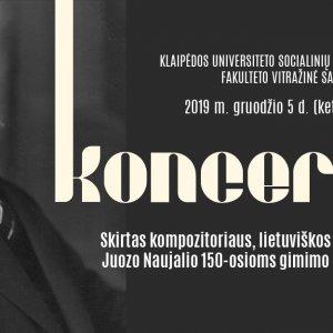 Choral music concert dedicated to the 150th Birthday Anniversary of Juozas Naujalis / Chorinės muzikos koncertas, skirtas Juozo Naujalio 150-osioms gimimo metinėms paminėti
