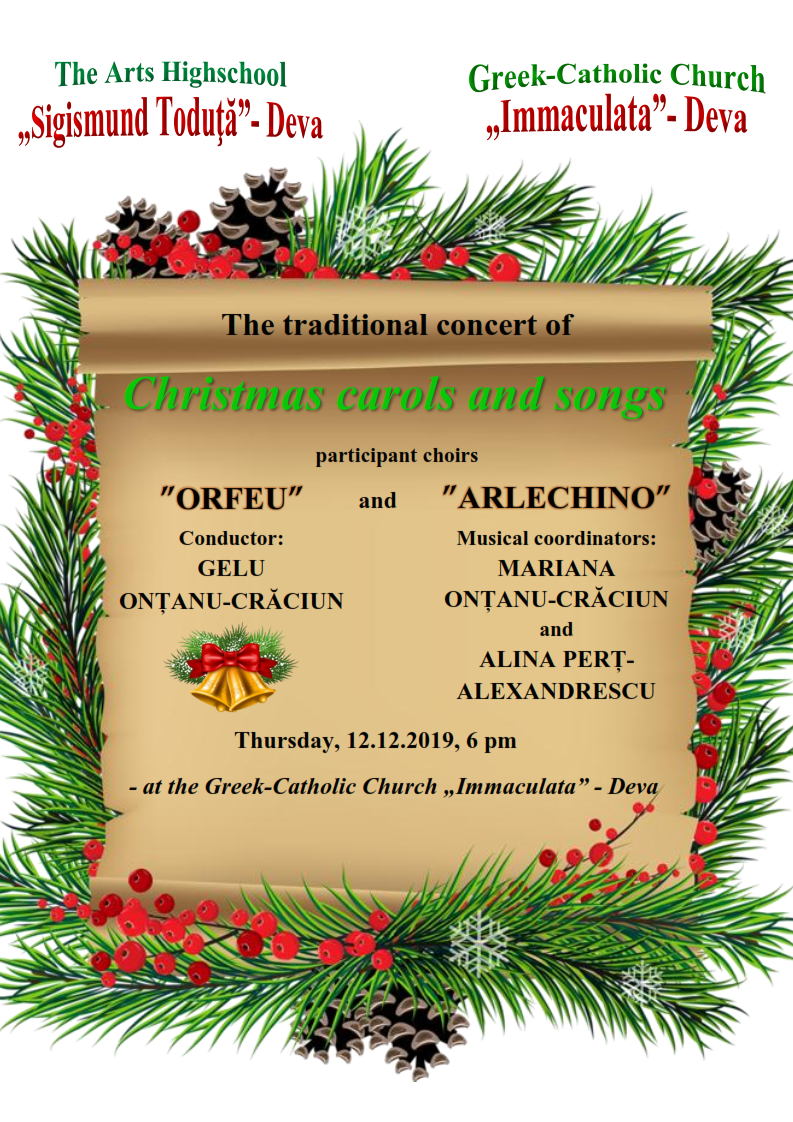 The traditional concert of Christmas carols and songs