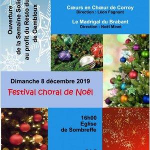 Christmas Choral Festival, Sombreffe, Belgium