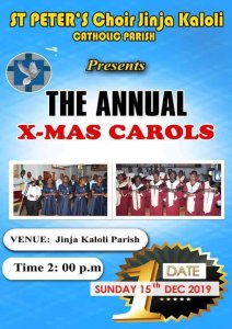 St.Peter's choir annual Christmas carols