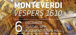 Bach Musica NZ: Monteverdi   Vespers 1610