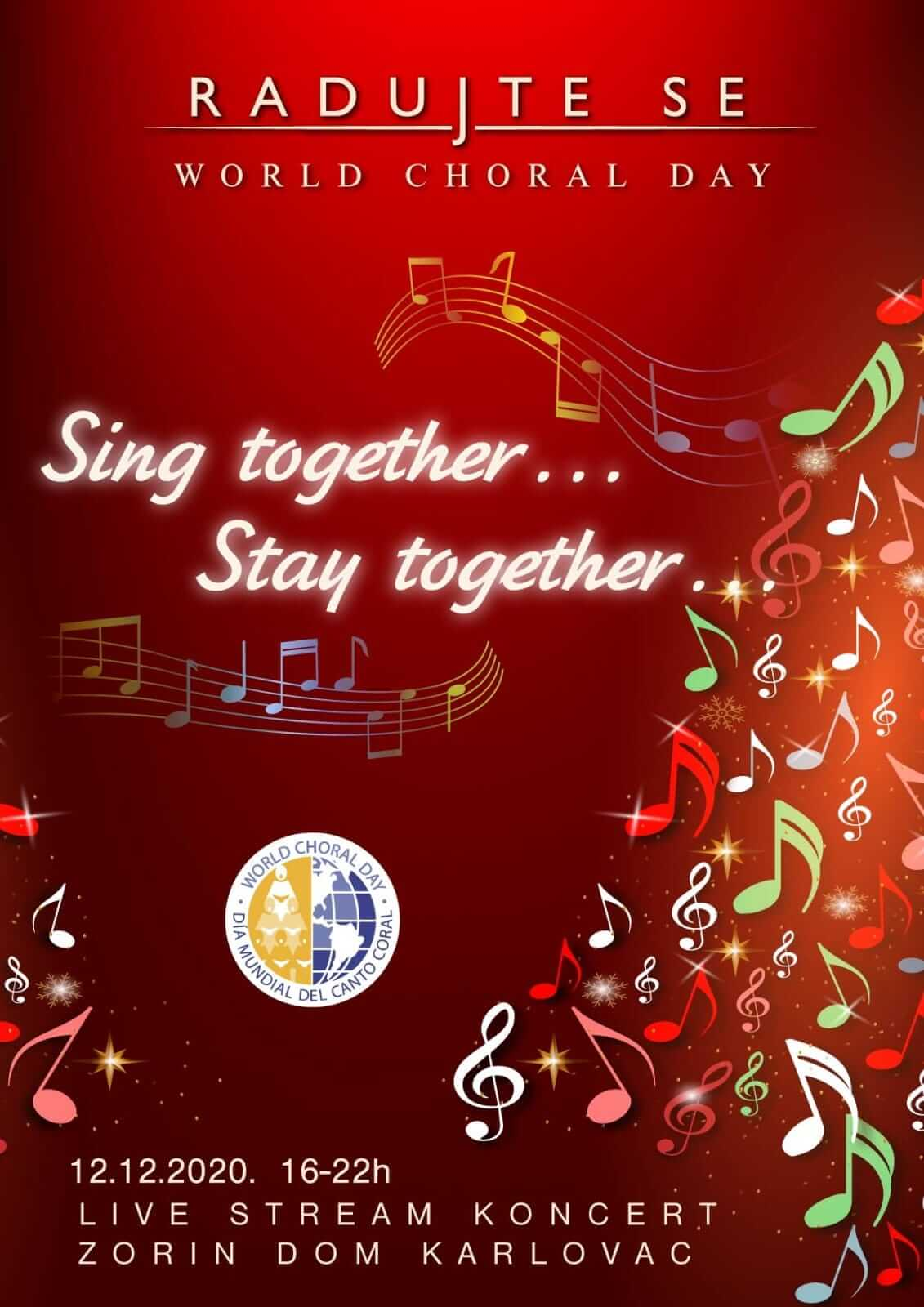 Radujte se narodi-World Choral Day-Song thogether,stay thogheter